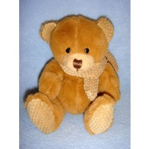 "|6"" Plush Bear w_Scarf - Assorted"