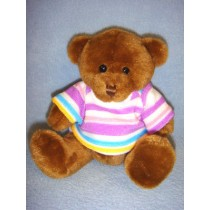 "|6"" Plush Bear w_Shirt - Assorted"