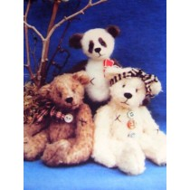 "|7"" Woolies Bear Pattern"