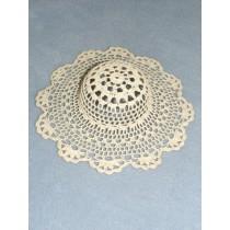 """ 8"""" Off-White Crochet Hat"""