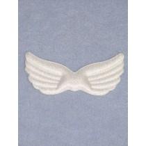 "|Angel Wings - 3 3_4"" White Iridescent"