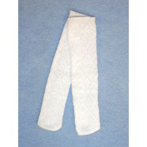 "|Sock - Diamond Knee High -18-20"" White (4)"