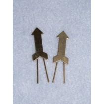 |Arrow Braid Clip - Gilt -  Pkg_2