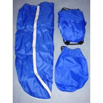 |Backpack & Sleeping Bag - Blue
