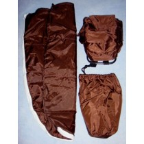 |Backpack & Sleeping Bag - Brown