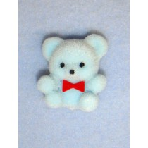 "|Bear - 1"" Flocked - Blue"
