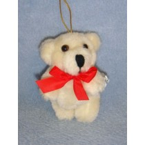 """ Bear - Plush Jointed - 3 1_2"""" Beige"""