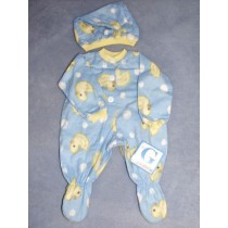 "|Blue Sleeper & Cap 19-21"" Dolls"