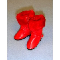 "|Boot - 1 7_8"" Red w_Fur"