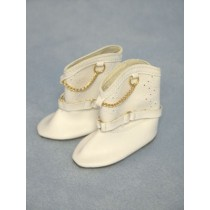 "|Boot - Cowboy - 3 1_8"" White w_Chain"