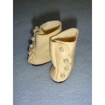 "|Boot - High Button - 1 1_2"" Cream"