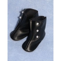 "|Boot - High Button - 1 3_4"" Black"