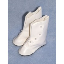 "|Boot - High Button - 2 3_8"" White"