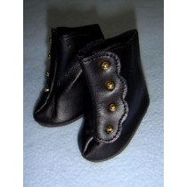 "|Boot - High Button - 2 7_8"" Black"
