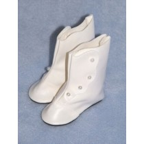 "|Boot - High Button - 2"" White"