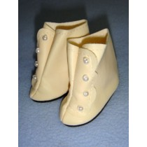 "|Boot - High Button - 3 1_8"" Cream"