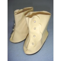 "|Boot - High Button - 3 5_8"" Cream"