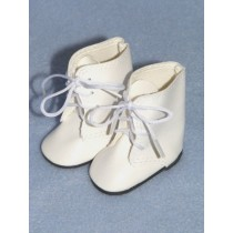 "|Boot - Lace Up - 3"" White"