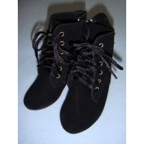 "|Boot - Mrs. Santa - 5 1_4"" Black Suede"