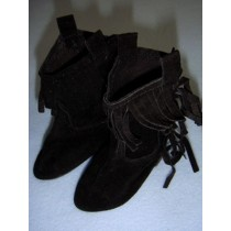 "|Boot - Suede Cowboy - 3 1_2"" Black"