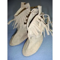 """ Boot - Suede Cowboy - 3 1_2"""" Taupe"""