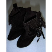 "|Boot - Suede Cowboy - 3 1_4"" Black"