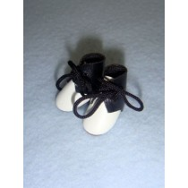 "|Boot - Tie - 7_8"" Black_White"