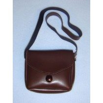 |Brown Vinyl Purse