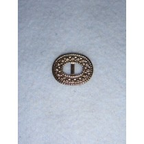 |Buckle - Decorative Oval Silver