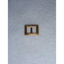 |Buckle - Decorative Rectangular Gold
