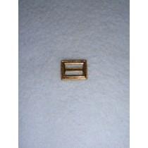 |Buckle - Decorative Rectangular Gold