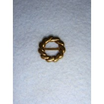 |Buckle - Decorative Round Gold