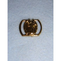 |Buckle - Gold Oval w_Horse Head