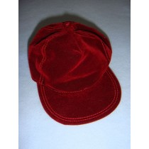 "|Burgundy Suede Baseball Cap for 18"" Dolls"