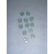"|Buttons - 2-Hole - 1_4"" Blue"