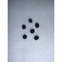 |Buttons - Glass Bead - 5mm Black