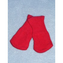 "|Cotton Socks for 18"" Dolls - Dark Pink"