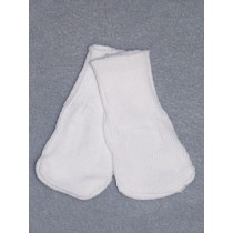 "|Cotton Socks for 18"" Dolls - White"