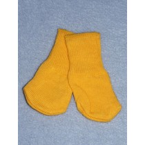 "|Cotton Socks for 18"" Dolls - Yellow Orange"