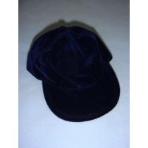 "|Dark Blue Suede Baseball Cap for 18"" Dolls"