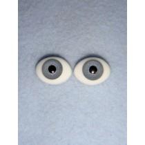 |Doll Eye - Flat Back Glass - 10mm Gray