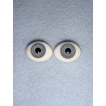 |Doll Eye - Flat Back Glass - 10mm Gray