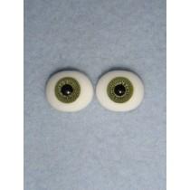 |Doll Eye - Flat Back Glass - 10mm Green