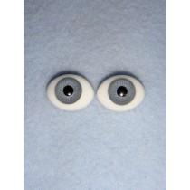 |Doll Eye - Flat Back Glass - 14mm Gray