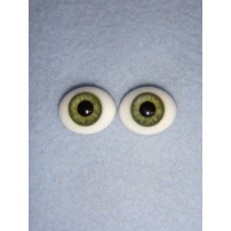  Doll Eye - Flat Back Glass - 14mm Green
