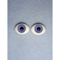 |Doll Eye - Flat Back Glass - 14mm Lavender