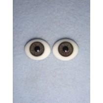  Doll Eye - Flat Back Glass - 16mm Gray