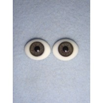 |Doll Eye - Flat Back Glass - 16mm Gray