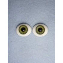 |Doll Eye - Flat Back Glass - 16mm Green
