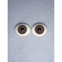 |Doll Eye - Flat Back Glass - 18mm Gray